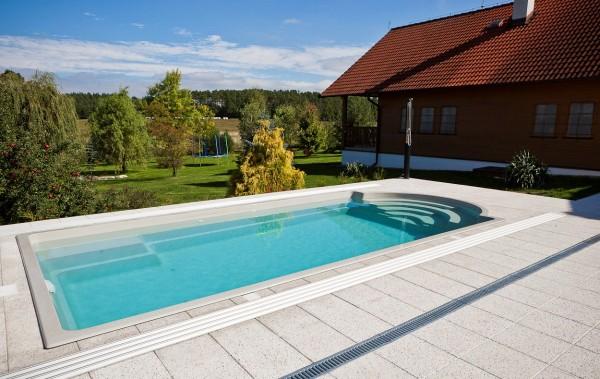 Topaz Keramik GFK-Pool Polyesterschwimmbecken Image