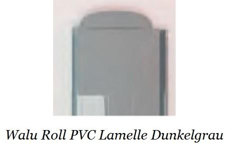 dunkelgraue Walu Roll PVC Rolladen Lamellen