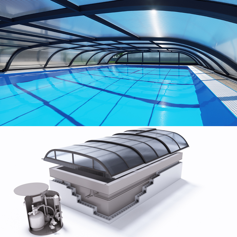 Albixon quattro dallas polypropylen pool komplettset mit for Schwimmfolie pool