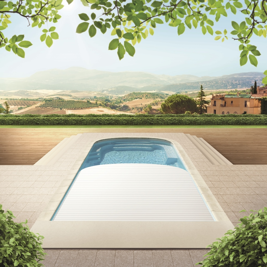 gfk pool monaco exklusiv upoolia polyesterpool mit rollladenabdeckung. Black Bedroom Furniture Sets. Home Design Ideas