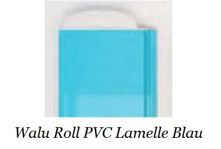 hellblaue Walu Roll PVC Rolladenabdeckung