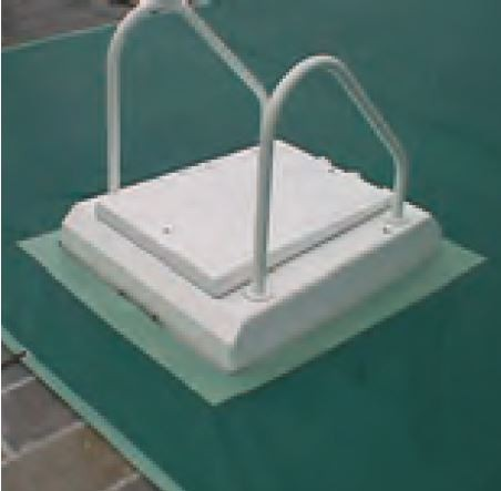 Ausschnitt mit Verstärkung für Gegenstromanlage oder Leiterholmen