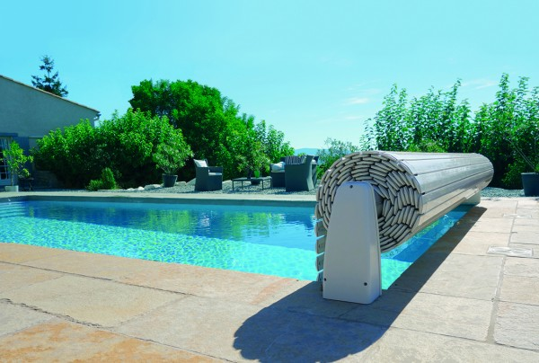 Upoolia Polypropylen Pool Komplettset mit Skimmer und Rollladenabdeckung Junior