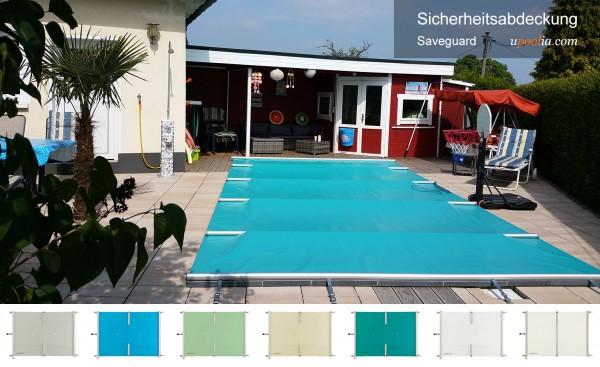 Hellblaue Saveguard Poolabdeckung 49 pro m² Preishit