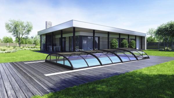 Klasik Clear Pro Poolüberdachung Schwimmbadüberdachung