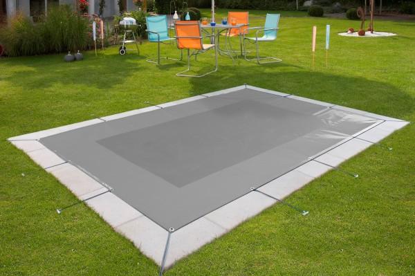 Pool Schutznetz in Grau als Winterabdeckung