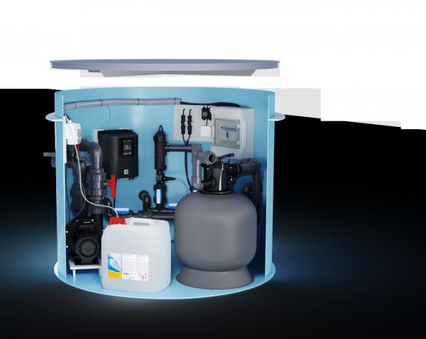 Technikschacht Oxilife inklusive Gegenstromanlage
