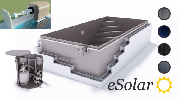 upoolia esolar banc pool komplettset mit solarrollladenabdeckung aus pp und skimmer. Black Bedroom Furniture Sets. Home Design Ideas