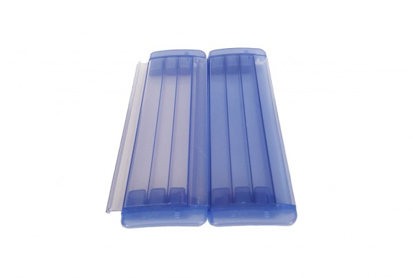 Isoplus PVC-Lamellen in Transparent (Gebläut)