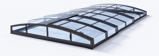 Poolüberdachung Albixon Klasik Clear