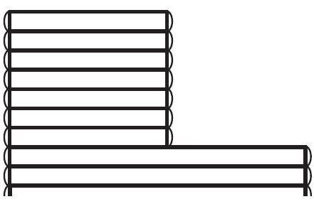 Ausschnitt für Leiter / Gegenstromanlage Eckausschnitt
