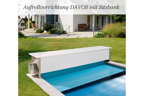 Sitzbank DAVOS Überflur Aufrollvorrichtung