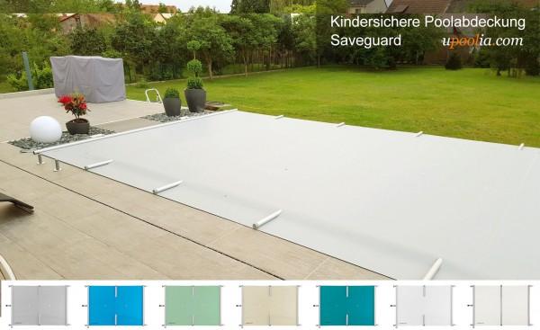 Upoolia Set - Saveguard für Pools von 3,4*5,4 bis 5,9*10,4 Meter Sicherheitsabdeckung Rollschutz
