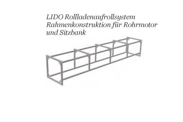 Rahmenkonstruktion LIDO - Aufrollvorrichtung mit Sitzbank