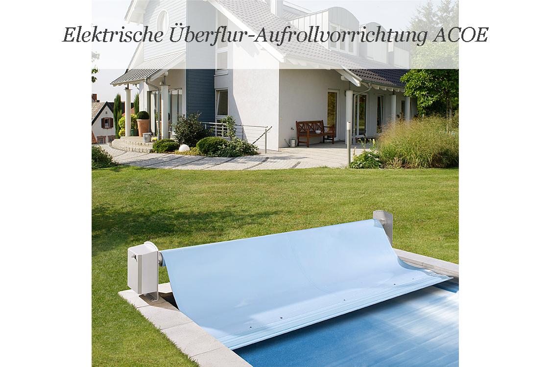 Berflur aufrollvorrichtung acoe 45 bis acoe 70 f r for Schwimmfolie pool