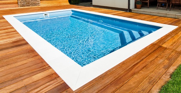 Ceramic Pool Brilliant - GFK Fertigpool als Einstückbecken zum schnellen Einbau