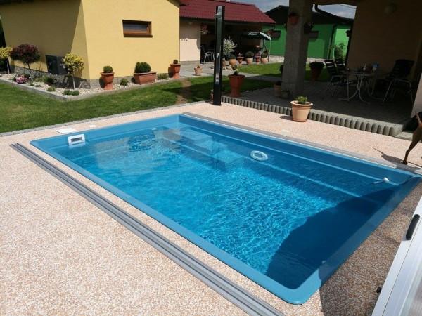 Ceramic Pool Opal - GFK Pool als Fertigpool mit angepasster Treppe optional als Poolkomplettset