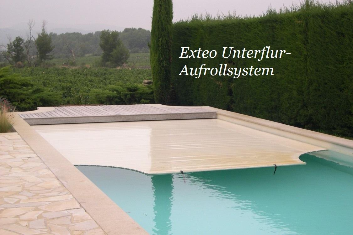 Unterfluraufrollsysteme f r rolladenabdeckungen for Schwimmfolie pool