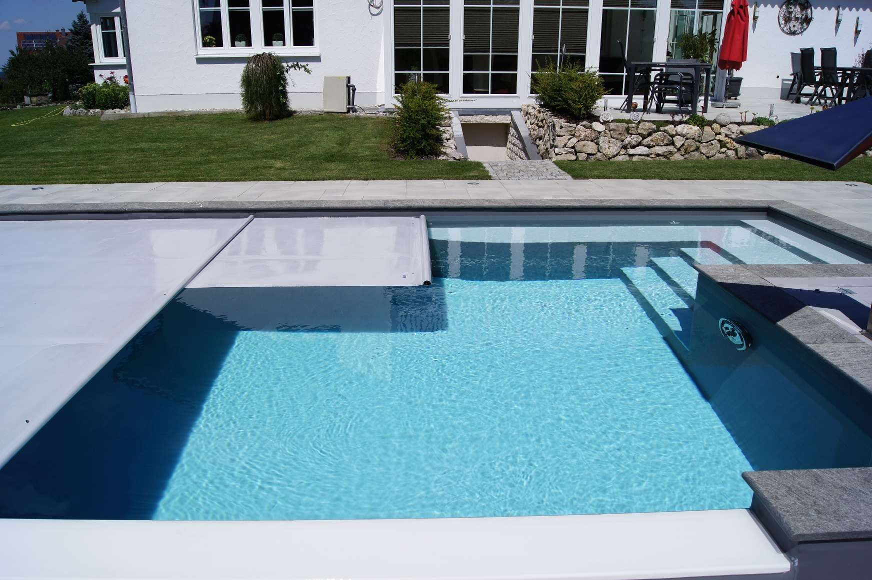 Graue Isola-Thermo-Roll Pool Schwimmfolie