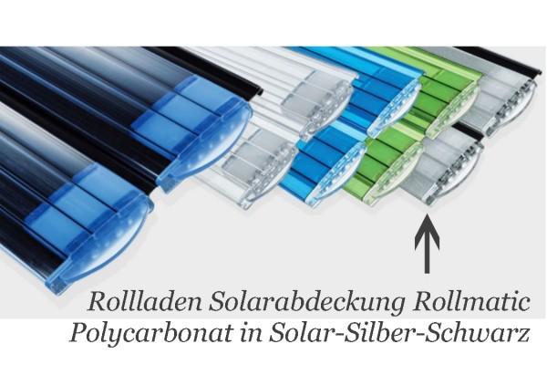 Rollladen Rollmatic 60 Polycarbonat solar-silber-schwarz